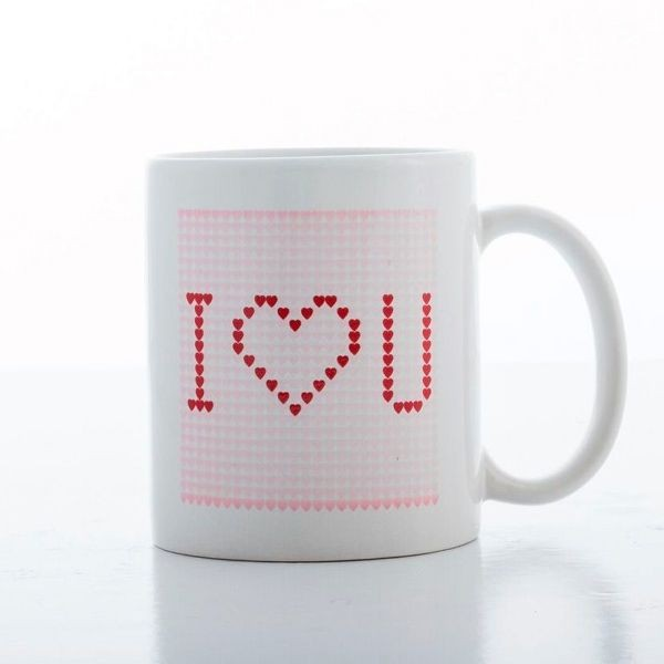 Caneca termica branca I LOVE YOU
