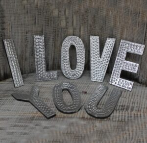 Letras Decorativas I Love You