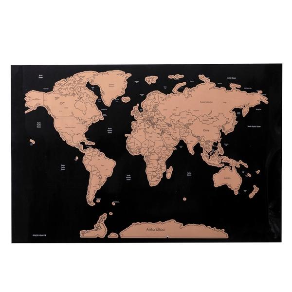 Mapa mundo para raspar Rose Gold